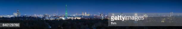 Berlin skyline panorama at blue hour