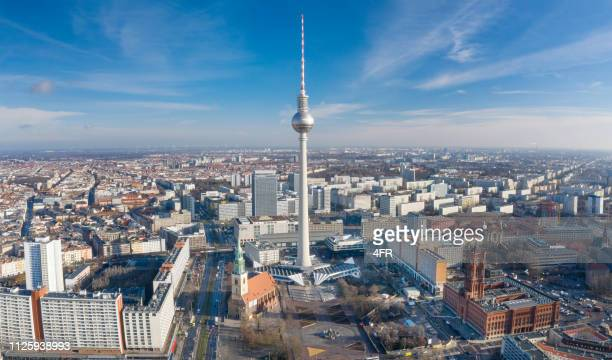berlin skyline - central berlin stock photos and pictures