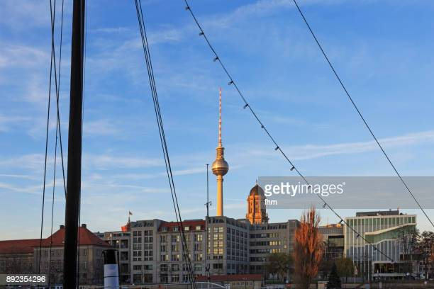 Berlin skyline with famous Television Tower and office buildings (Germany)