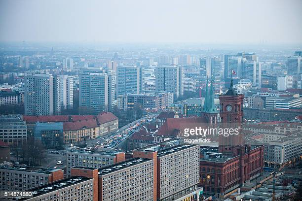 Berlin skyline with Rotes Rathaus