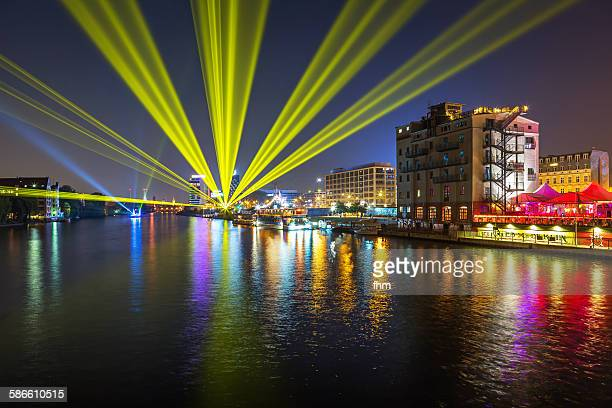 berlin - special lights and illumination - フリードリッヒハイン ストックフォトと画像