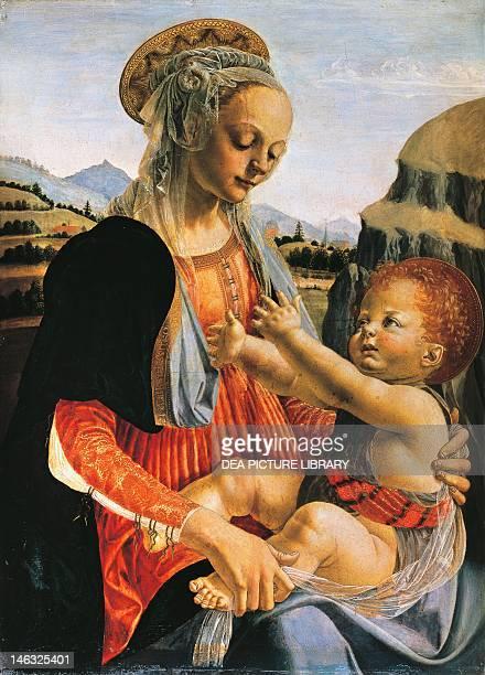 Berlin Staatsbibliothek Zu Berlin Preussischer Kulturbesitz Madonna and Child ca 1470 by Andrea del Verrocchio Oil on wood 755x548 cm