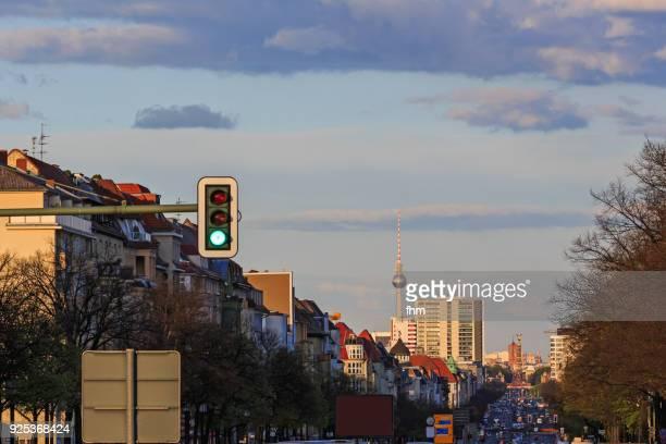 Berlin, Strasse des 17. Juni and city skyline (Germany)
