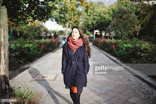 berlin street style portrait - green coat stock pictures, royalty-free photos & images