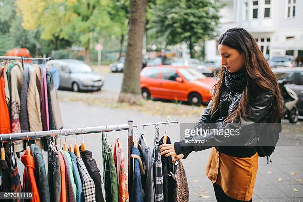 berlin street style shopping - kreuzberg stock photos and pictures