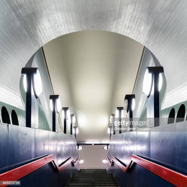 berlin subway station schloßstraße - christian beirle stock pictures, royalty-free photos & images