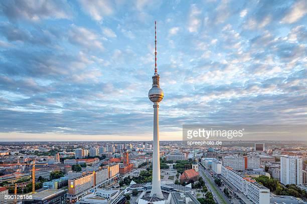 Berlin Summer Skyline with TV Tower