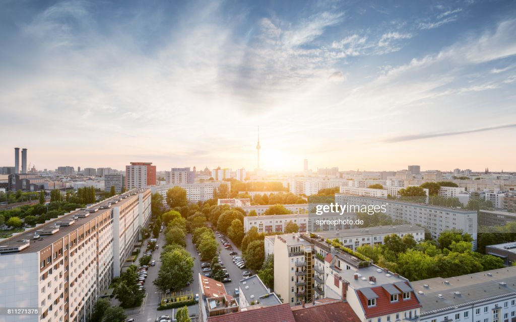 Berlin Summer Skyline with TV Tower : Stock Photo