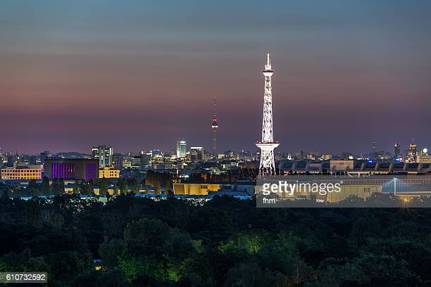 Berlin sunrise - skyline with famous Radio- and TV-Tower