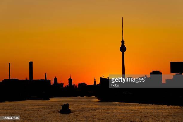 Berlin Sonnenuntergang Silhouette