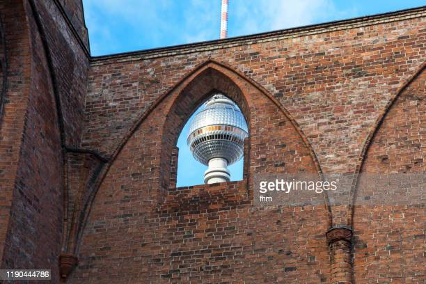 berlin - television tower (alexanderplatz/ germany) - central berlin stock pictures, royalty-free photos & images