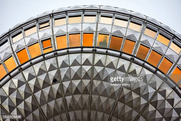 berlin television tower, tv tower, berliner fernsehturm, germany - east germany stock pictures, royalty-free photos & images