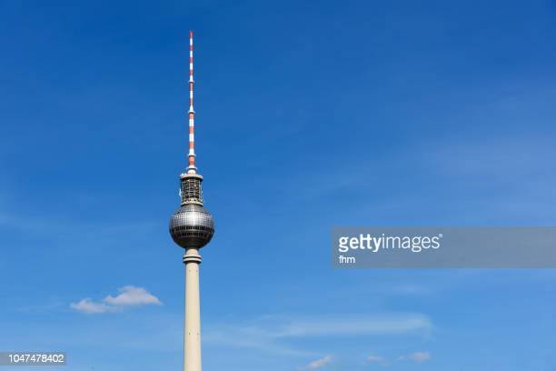 Berlin - television tower with blue sky (Alexanderplatz/ Germany)