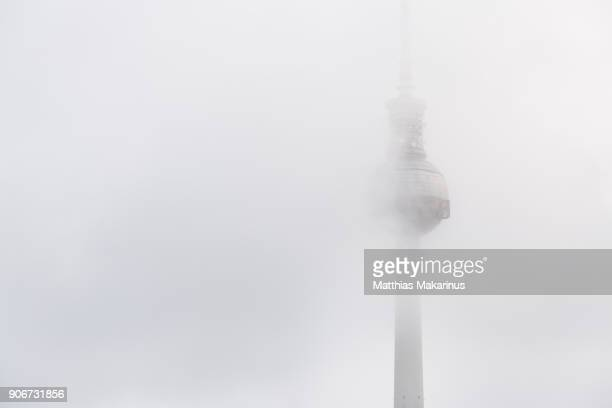 Berlin Television Tower with Foggy