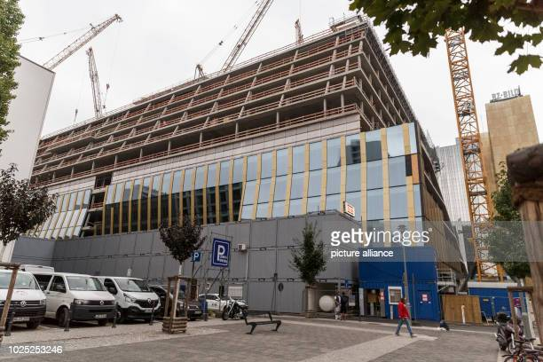 The construction site of the new Axel Springer building, photographed during a press preview. Photo: Carsten Koall/dpa