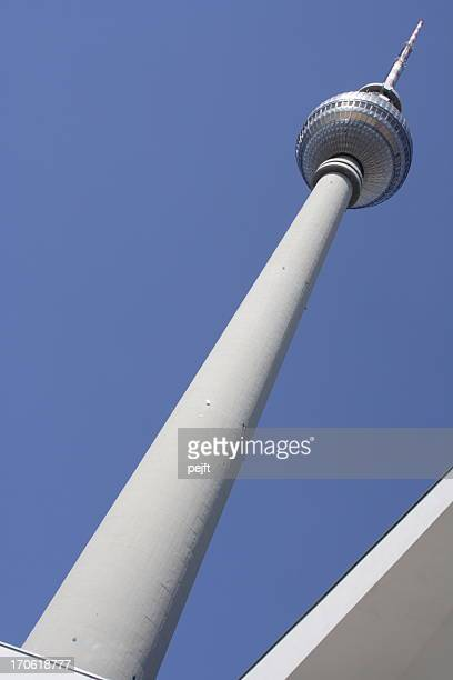 berlin - the television tower - pejft stock pictures, royalty-free photos & images