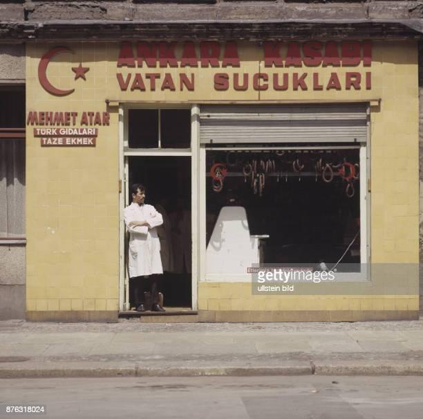 Berlin, Turkish butcher in Kreuzberg