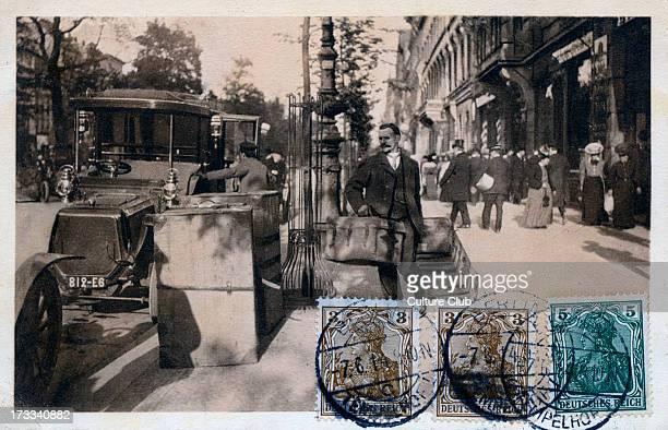 'Berlin types series c 1914 Leaving a hotel Street scene in Berlin