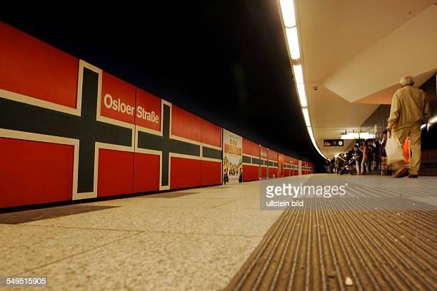 Berlin UBahnhof Osloer Straße Bahnsteig