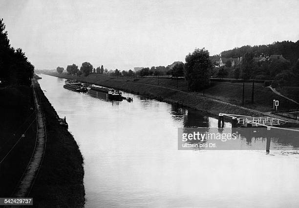 Berlin: view on the Teltow canal, 1931