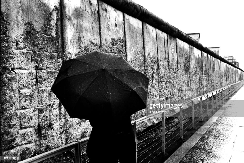 Berlin wall remaining section : Stock Photo