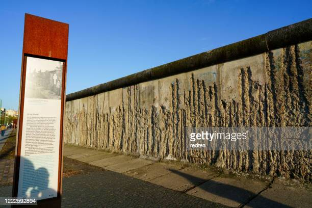 berlin wall segment - bernauer strasse stock pictures, royalty-free photos & images