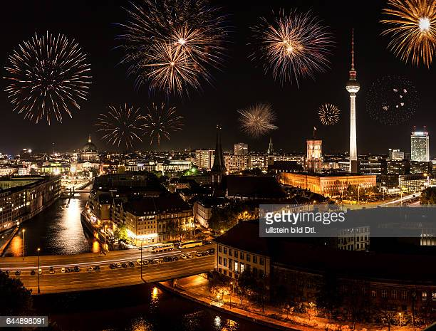 berlin with fireworks on new year's eve