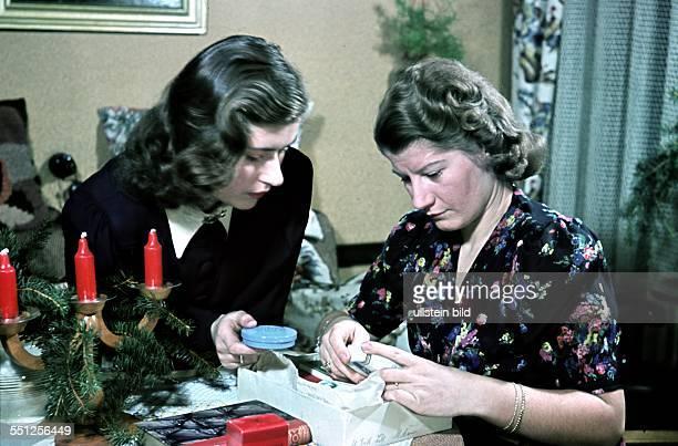 Berlin Women preparing Christmas giftwrapping 1941