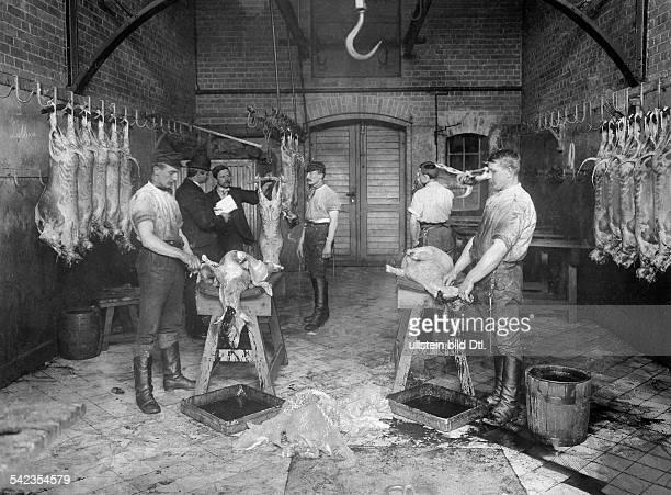 Berlin 'Zentralviehhof' at abattoir in Friedrichshain 1897 Photographer Waldemar Titzenthaler