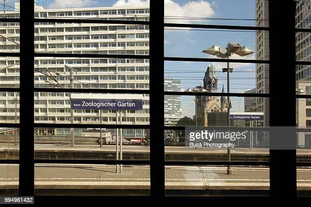 berlin zoologischer garten railway station. berlin, germany - berlin zoo stock pictures, royalty-free photos & images