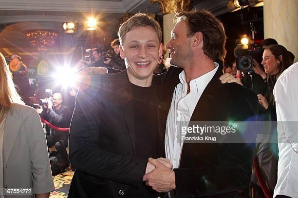 Schauspieler Matthias Schweighöfer Und Thomas Kretschmann Auf Dem Medienboard Empfang In Berlin