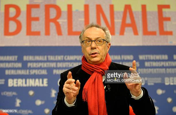 Berlinale festival director Dieter Kosslick addresses a press conference on February 1, 2010 in Berlin, during the presentation of the 60th Berlin...
