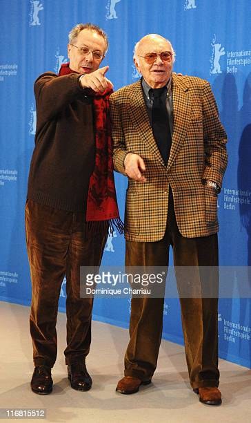 Berlinale Festival Director Dieter Kosslick and Francesco Rosi attend the Honorary Golden Bear Photocall as part of the 58th Berlinale Film Festival...