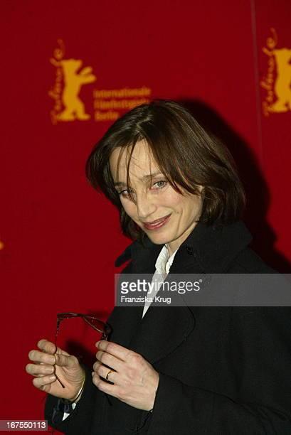 Schauspielerin Kristin Scott Thomas Bei Fotocall Zu Petites Coupures Am 120203