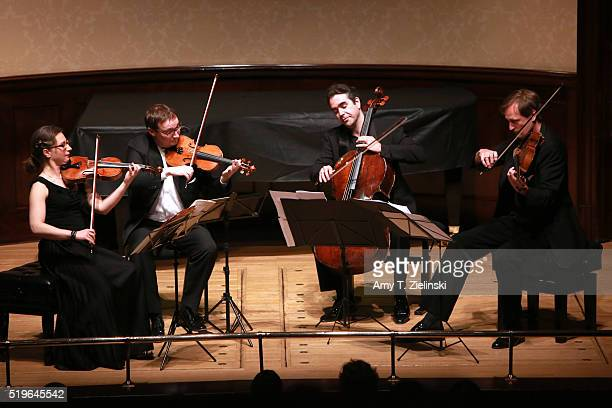Berlinbased Kuss Quartet with Jana Kuss on violin Oliver Wille on violin Mikayel Hakhnazaryan on cello and William Coleman on viola perform works by...