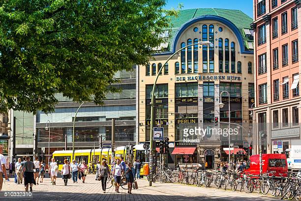 berlin's central mitte district hackescher markt - central berlin stock photos and pictures