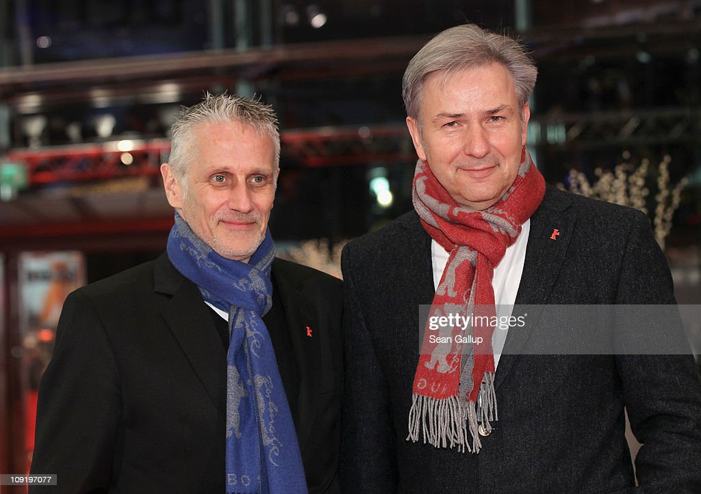 Berlin's mayor Klaus Wowereit and partner Joern Kubicki attend the 'Mein Bester Feind' (My Best Enemy) Premiere during day seven of the 61st Berlin International Film Festival at Berlinale Palace on February 16, 2011 in Berlin, Germany.