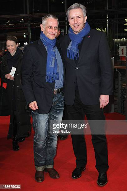 """Berlin's mayor Klaus Wowereit and partner Joern Kubicki attend the """"Extremely Loud And Incredibly Close"""" Premiere during day two of the 62nd Berlin..."""
