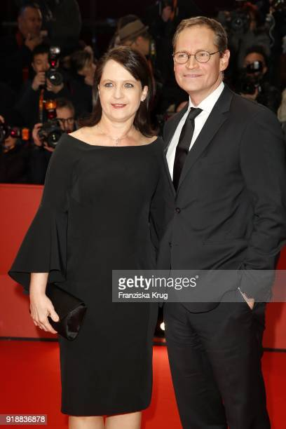 Berlin's mayor Michael Mueller and his wife Claudia attend the Opening Ceremony 'Isle of Dogs' premiere during the 68th Berlinale International Film...