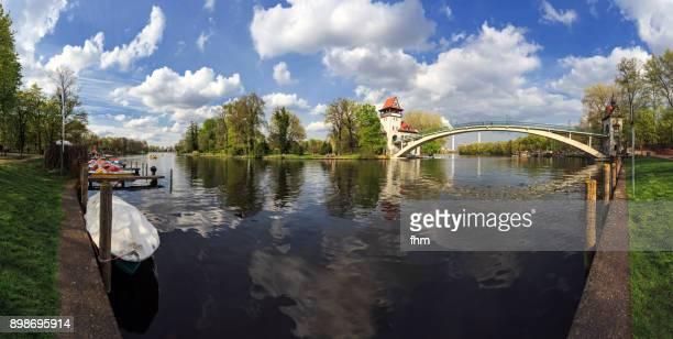 Berlin-Treptower Park with 'Insel der Jugend' (Treptow, Berlin/ Germany)