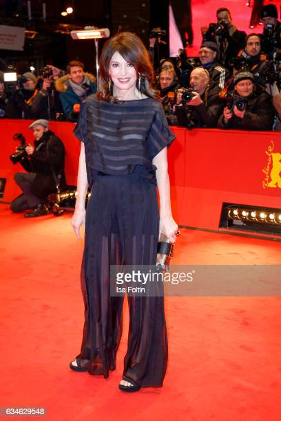 Berman actress Iris Berben attends the 'Django' premiere during the 67th Berlinale International Film Festival Berlin at Berlinale Palace on February...