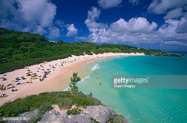 Bermuda, Horseshoe Bay, elevated view