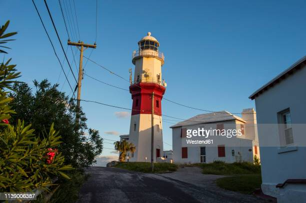 bermuda, st. davids island, st. david's lighthouse - st davids day stock pictures, royalty-free photos & images