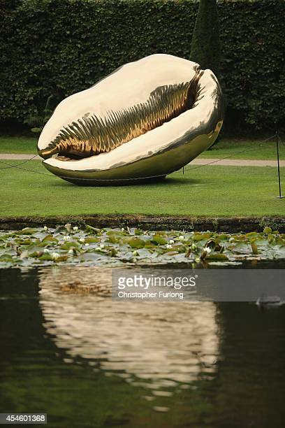 Bermuda Triangle by artist Marc Quinn adorns the grounds of Chatsworth House which is part of the annual Sotheby's monumental scuplture exhibition...