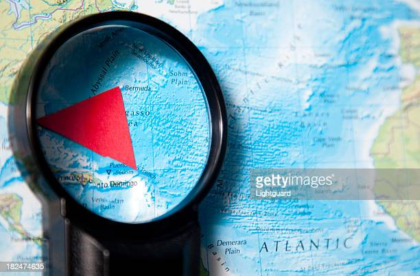 bermuda triangle investigation - bermuda triangle stock photos and pictures