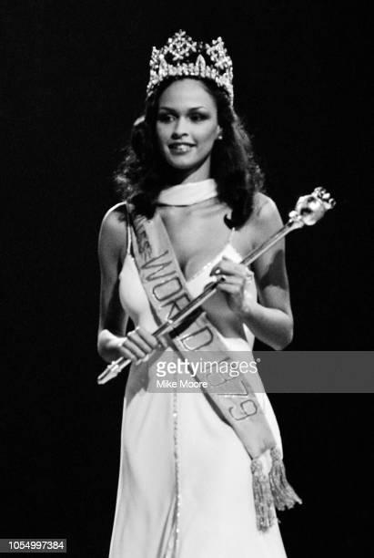 Bermudian model and beauty queen Gina Swainson crowned as Miss World Royal Albert Hall London UK 15th November 1979