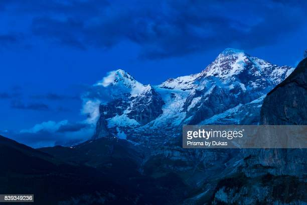 Bern Bernese Oberland Eiger and Moench peaks
