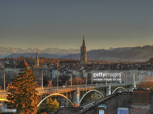 bern city view - bern stock photos and pictures