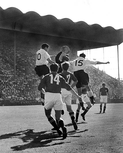 Bern, First Round Of The Football World Cup In June 1954. England Wins Over Switzerland 2 0. A Goalkeeper In Action