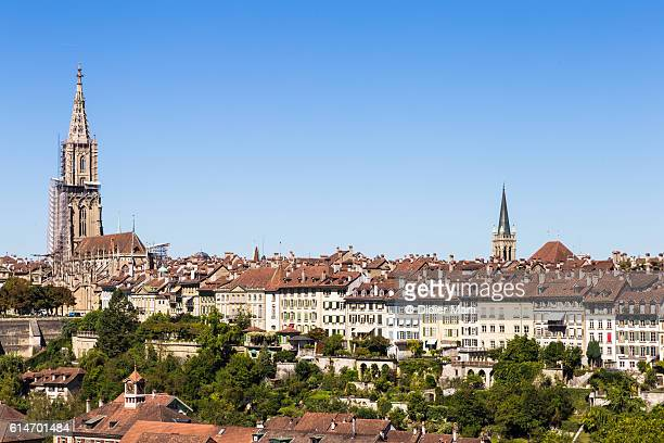 bern old town skyline in switzerland capital city - ベルン ストックフォトと画像